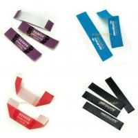 Quality Ribbon Printed Brand Name Tags For Clothes , Custom Clothing Labels No Minimum for sale