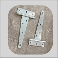 Quality Decorative 4 Inch T Strap Hinges Unpolish Color High Performance White Zinc Plated for sale