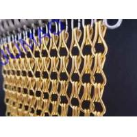 Quality 10mm × 24mm Metal Chain Link Curtains Golden String For Wall Coverings for sale
