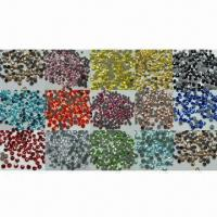 Hot-fix Rhinestones, Available from SS4 to SS34, Different Colors are Available