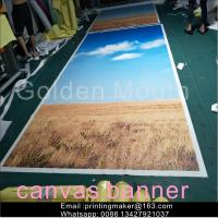 Quality Waterproof Chemical Fabric Canvas Banner Printing Service for sale