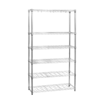 Quality NSF Solid 400lbs 6 Tier Commercial Wire Shelving Corrosion Protection for sale