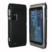 Quality Hard Rubber Mesh Case Cover Skin for Nokia E7 for sale