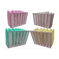 Quality 80% Humidity Synthetic Fiber Media F6 Pocket Air Filter for sale