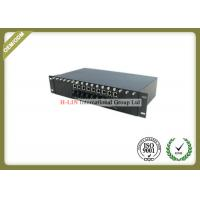 China 2U 16 Slots Media Converter Rack Mount Chassis With Dual Power For Card Type on sale