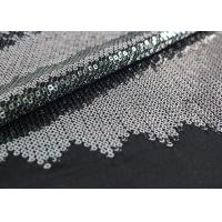 Quality Embroidered Mesh Lace Fabric With Silver Sequin , Bridal Lace Fabric By The Yard for sale