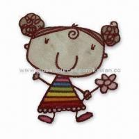 Best Girl Ironed Embroidered Patch for Apparel, Homespun Fabric, Garments and Room Ornaments wholesale