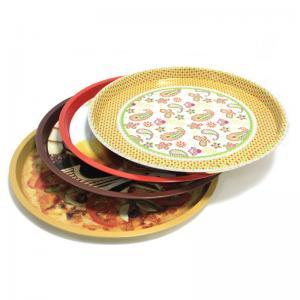 Quality custom metal round fruit tin trays for sale