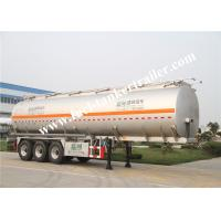 European Standard Three Axles Aluminum tank trailer for fuel delivery trucks