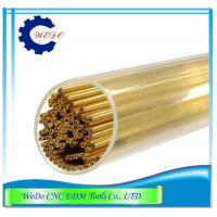 Double Hole EDM Brass Tube / Eletrode Pipe For EDM Drilling Machine 0.7x400mmL