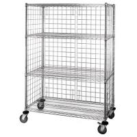 Quality 4 - Tier Wire Shelving Unit / Durable Organizer Metal Storage Rack for sale