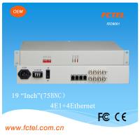 Quality Desktop/4u Rack mount (LAN-AC220V-75BNC), 4E1-FE fiber media converter for sale