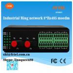 Industrial Ring Network 8*RS485 Fiber Modem