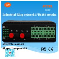 Quality Industrial Ring Network 8*RS485 Fiber Modem for sale