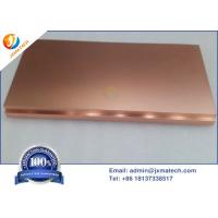 Quality Copper Plate Sputtering Target Ultra High Purity 99.999%, 99.9999% for sale