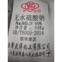 Quality 99% Sodium Sulphate Anhydrous CAS NO 7757-82-6 / Glauber Salt PH8-11 for sale