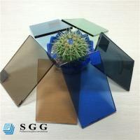 Quality Good price 4mm 5mm 5.5mm 6mm color dark blue green grey bronze tinted float glass factory for sale