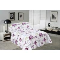 Quality Rose / Butterfly Cotton House Quilt Covers With Colorful Printed Pattern Styles for sale