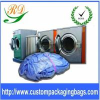 Quality Blue / Yellow Biodegradable Plastic Drawstring Laundry Bags For Hotel / Hospital for sale