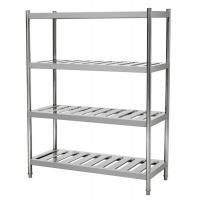 Quality 4 Tiers Stainless Steel Heavy Duty Storage Racks , Kitchen Food Storage Shelving Units for sale