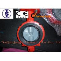 Quality Lever Butterfly Valve Industry Butterfly Valve  DN50 - DN1000 Cast Iron , Ductile Iron Body for sale