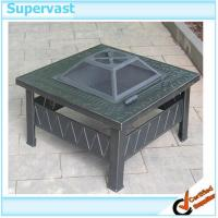China Outdoor Patio Furniture Accessories Metal Square Patio Table Fire Pit on sale