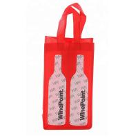 Quality Portable 2 Bottle Fabric Non Woven Wine Bags Folding Environmental Friendly for sale
