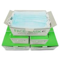 Quality 3 Ply Disposable Surgical Mask , Earloop Face Masks For Germ Protection for sale