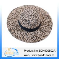 China Hot selling derby bowler floppy leopard grain hats for women on sale