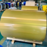Quality EN573-1 Gutter Roofing Painted Aluminum Coil PE Coating T851 for sale