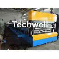 Quality Galvanized Steel Double Layer Forming Machine For Roof Wall Cladding With HRC50 - 60 Heat Treatment for sale