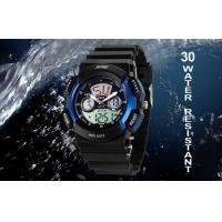 Quality LCD Display Analog Digital Wrist Watch Vogue 50M Water Resistant Man Watches for sale