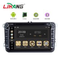 Quality 4GB RAM Android Auto Double Din Volkswagen Golf Dvd Player Front Camrea Rear Camera for sale