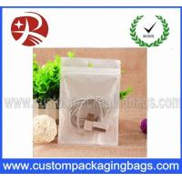 Quality BOPP Data Cable Plastic Ziplock Bags Pearlized With Euro Slot for sale