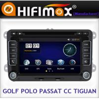 Quality VW Golf double din in dash touch screen car dvd player with gps system for sale