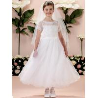 China China Flower Girl Dress/ Short Sleeve Lace Little Princess Flower Girl Dress on sale