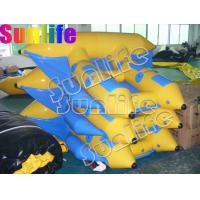 inflatable Stimulate flying fish blue and yellow boat MB009 for flying