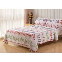 China Country Style Wave Embroidered King Size Patchwork Quilts 3pcs 100% Cotton on sale