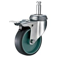 China Grip Neck Locking Furniture Casters , Stem Mounting Screw In Furniture Casters on sale