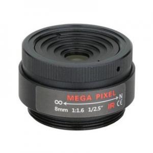 "Quality 1/2.5"" 8mm F1.6 3Megapixel CS-mount Fixed Focal IR Lens Megapixel Prime Lens for sale"