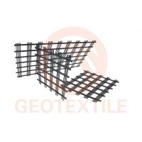 Quality 3.95m High Strength Polyester Geogrid 100m Length Environment Friendly for sale