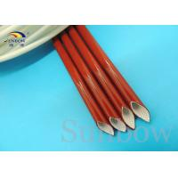 Iron oxide red braided sleeving products , High Temperature Fiberglass Sleeving