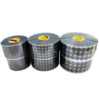 China Custom Size Self Adhesive Hook And Loop Dots / White Sticky Coins For Home Appliance on sale