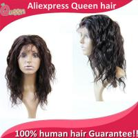 China 2015 New Brazilian full lace human hair wigs Full Lace Front Wig Natural body wave wigs for black women hair In Instock on sale