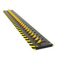 Quality Residence Remote Control Parking Bollards , Tyre Killer Barriers Black Reflective Film for sale