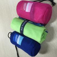 Quality Sports Microfiber Suede Towel / Quick Dry Travel Towel 140 - 300GSM Weight for sale
