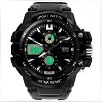 Quality Multifunctional Analog Digital Wrist Watch With Dual Time Zone for sale