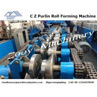 Quality Hydraulic C Z Purlin Metal Forming Equipment 380V 50HZ 5 Phrase for sale
