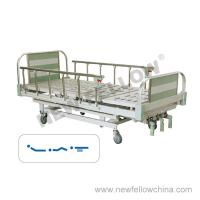 Quality Manual Three Crank Medical Hospital Beds With Aluminum Alloy Guardrail And Head / Foot board for sale