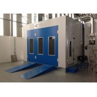 Water Curtain Paint Spray Booth With Drying Oven Diesel Burner Heating Turbo Fan